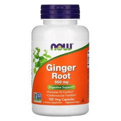 NOW Ginger Root 550 mg 100 капсул