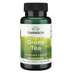 Swanson Green Tea 500 mg 100 капсул