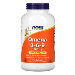 Now Foods Omega 3-6-9 250 капсул