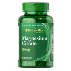Puritan's Pride Magnesium Citrate 100 mg 100 капсул