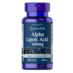 Puritan's Pride Alpha Lipoic Acid 600 mg 30 капсул
