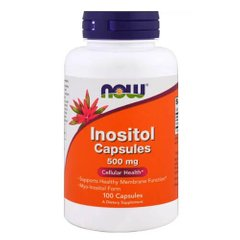 NOW Inositol 500 mg 100 капс