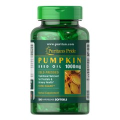 Puritan's Pride Pumpkin Seed Oil 1000 mg 100 жидких капсул