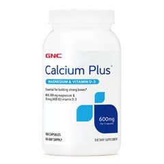 GNC Calcium Plus Magnesium & Vitamin D-3 600mg 180 капсул