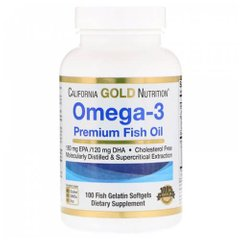 California Gold Nutrition Omega-3 100 капсул