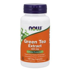 NOW Green Tea 400 mg 100 капсул