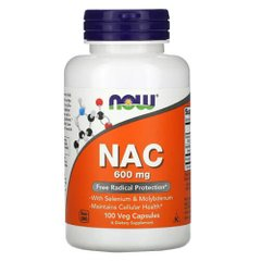 Now Foods NAC 600 mg 100 капсул