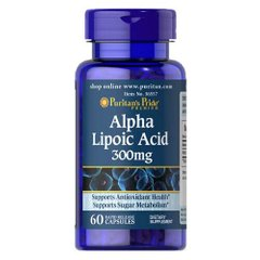 Puritan's Pride Alpha Lipoic Acid 300 mg 60 капсул