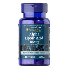 Puritan's Pride Alpha Lipoic Acid 100 mg 60 капс