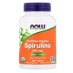 NOW Spirulina 500 mg 200 таб