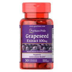 Puritan's Pride Grapeseed Extract 100 mg 50 капсул