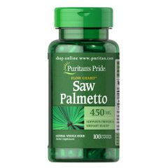 Puritan's Pride Saw Palmetto 450 mg 100 капсул