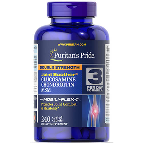 Puritan's Pride Glucosamine Chondroitin MSM Double Strength 240 таб