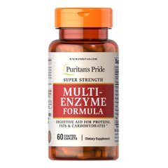 Puritan's Pride Super Strength Multi Enzyme 60 таб