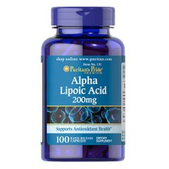 Puritan's Pride Alpha Lipoic Acid 200 mg 100 капсул