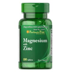 Puritan's Pride Magnesium with Zinc 100 таб