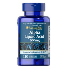 Puritan's Pride Alpha Lipoic Acid 100 mg 120 капс