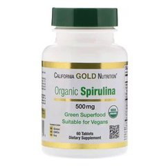California Gold Nutrition Spirulina 60 таб