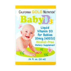 California Gold Nutrition Baby Vitamin D3 400 IU 10 мл