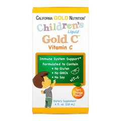 California Gold Nutrition Children's Liquid Gold Vitamin C 118 мл