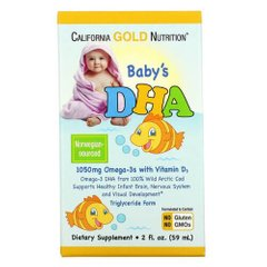 California Gold Nutrition Baby's DHA Omega-3 with Vitamin D3 59 мл