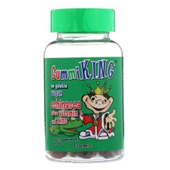 Gummi King Echinacea Plus Vitamin C and Zinc 60 жевательных конфет