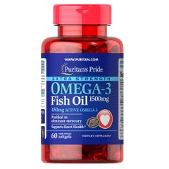 Puritan's Pride Omega-3 Fish Oil 1500 mg 60 капсул