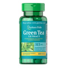 Puritan's Pride Green Tea Extract 315 mg 100 капсул