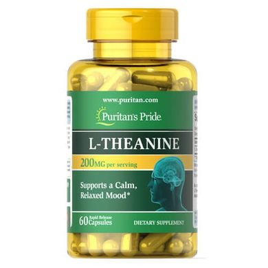 Puritan's Pride L-Theanine 200 mg 60 капсул