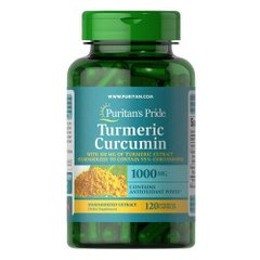 Puritan's Pride Turmeric Curcumin 1000 mg with Bioperine 5 mg 120 капсул