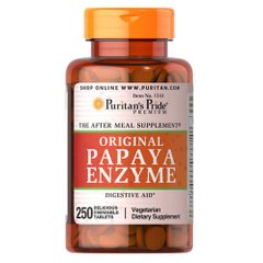 Puritan's Pride Papaya Enzyme 250 таб