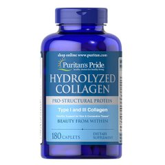 Puritan's Pride Hydrolyzed Collagen 1000 mg 180 таб