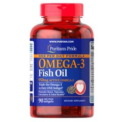 Puritan's Pride One Per Day Omega-3 Fish Oil 1360 mg 90 капсул