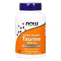 NOW Taurine 1000 mg 100 капсул