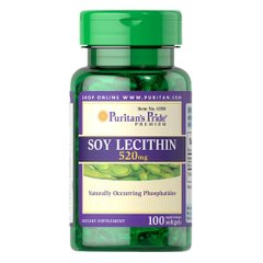 Puritan's Pride Soy Lecithin 520 mg 100 капсул