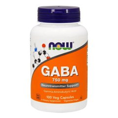 NOW GABA 750 mg 100 капсул