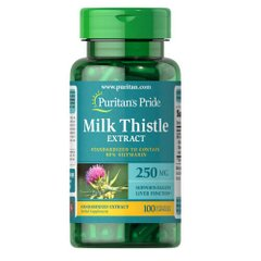 Puritan's Pride Milk Thistle Standardized 250 mg (Silymarin) 100 капсул