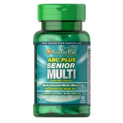 Puritan's Pride ABC Plus Senior Multivitamin Multi-Mineral Formula 60 таб