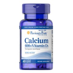 Puritan's Pride Calcium Vitamin D3 60 таб