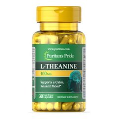 Puritan's Pride L-Theanine 200 mg 30 капсул