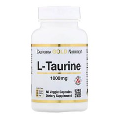 California Gold Nutrition L-Taurine 1000 mg 60 капсул