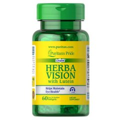 Puritan's Pride Herbavision Gold with Lutein and Bilberry 60 капсул